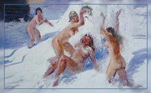 Можно ли после бани прыгать в снег